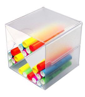 Organizador sobremesa divisor en aspa 15,2x15,2x15,2cm faibo 350201 - 350201