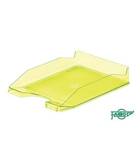 Bandeja sobremesa translucidas amarillo fluor faibo 93t-64