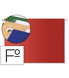 Carpeta colgante folio rojo visor superior liderpapel pack 10 und. sf10 42814 - 42814