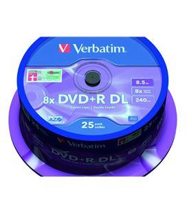 Dvd+r doble capa 8,5gb 8x bobina 25uds verbatim 700914357 - 403703
