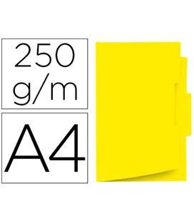 Subcarpeta a4 con pestañana central amarillo 50 unid. gio 400040695