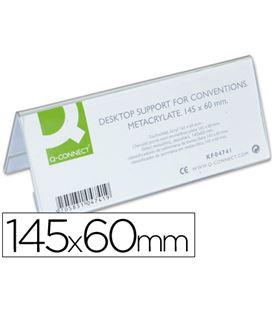 Identificadores sobremesa metacrilato 145x60mm q-connect kf04741 - 39938