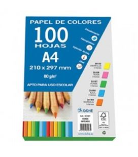Papel a4 100h 80grs verde intenso dohe 30167 - 30167