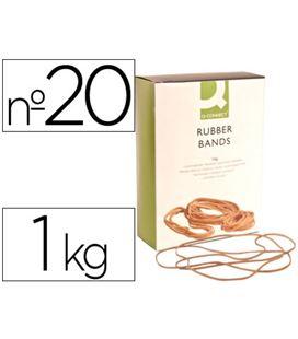 Goma elastica 200mm 1kg caja q-connect kf14689 - 54329