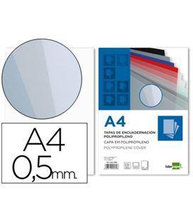 Cubiertas encuadernar a4 transparente 5mm 100ud te15 liderpapel 22536 - 22536
