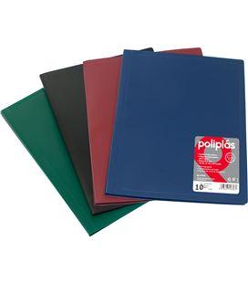 Carpeta 40 fundas folio azul opaco poliplas grafolioplas 01440030