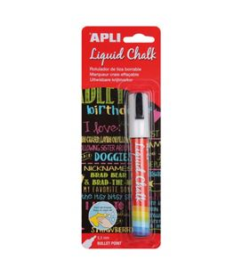 Rotulador tiza liquida borrable 5,5mm liquid chalk apli 13954 - 13954