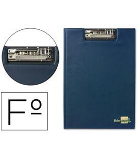 Carpeta folio miniclip superior azul liderpapel 24967