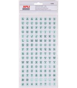 Letras adhesivas epoxin dots pastel 2 hojas apli 13892 - 13892