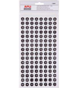 Letras adhesivas epoxin dots blanco negro 2 hojas apli 13891 - 13891