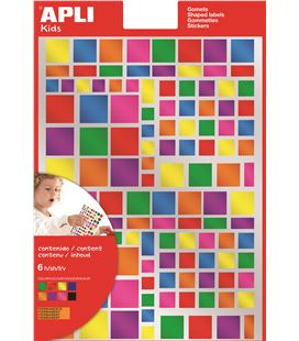 Gomet metalicos cuadrados colores surtidos permanentes 6hj apli 13530 - 112363
