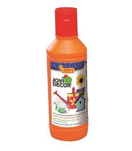 Pintura multiusos jovidecor botella 250 ml naranja - 111509