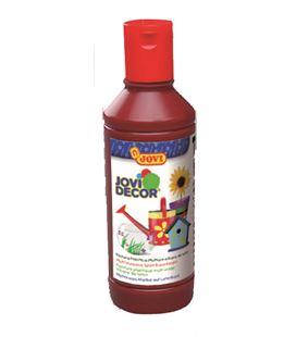 Pintura multiusos jovidecor botella 250 ml marrón - 111512