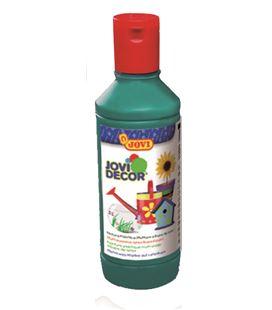Pintura multiusos jovidecor botella 250 ml verde oscuro - 111514