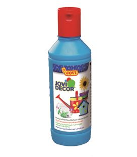 Pintura multiusos jovidecor botella 250 ml azul cyan 680/21 - 111515