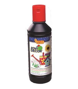 Pintura multiusos jovidecor botella 250 ml negro - 111518