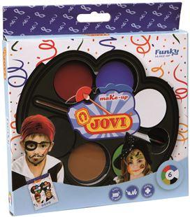 Maquillaje crema paleta 6 colores (vd,nj,rj,bl,az,ng) funky jovi 196 - 112211