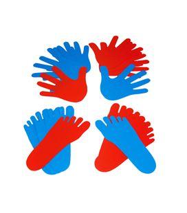 Manos y pies: 8 manos + 12 pies en polipropileno henbea 736 - 113003