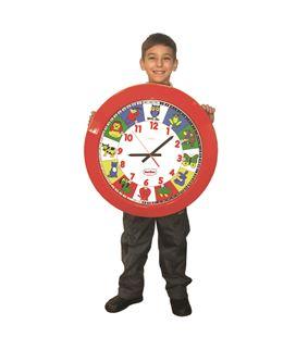 Reloj gigante escolar animales 60ø henbea - 112521