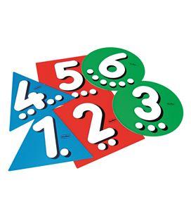 Salta al numero - 6 numeros plastico 3 colores henbea - 113002