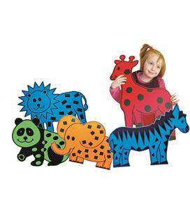 Animales gigantes (cebra, elefante, jirafa y panda) henbea - 113308