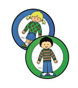 Carteles para el aseo niño-niña 2 uds. henbea - 113314