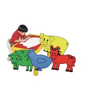 Animales gigantes (vaca, caballo, gallina oveja y cerdo) henbea - 113309