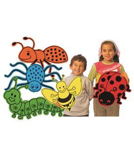 Animales gigantes (mariquita, gusano, araña, abeja y hormiga) henbea - 113307