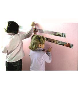 Tiras de espejo 100x5 cm 4 uds. henbea - 112419