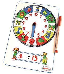 Reloj manual gigante con números 75x52 cm henbea - 112292