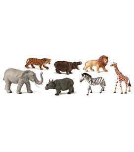 Animales selva plastico 7 figuras bote miniland - 112584
