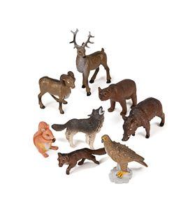 Animales bosque plastico 8 figuras bote miniland - 112583