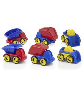 Vehiculos plastico set dumpy contenedor 6 uds. (3 mod. x 2 uds.).miniland - 112573