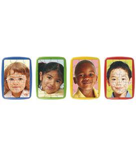 Puzzle plastic razas 4 láminas 20 piezas 31 x 21 cm miniland - 114299