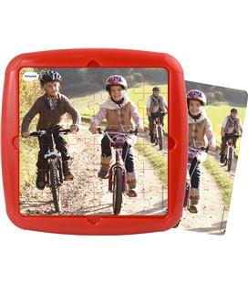 Puzzle plastic con marco paseo en bici 36 piezas 21 x 21 cm miniland - 114295