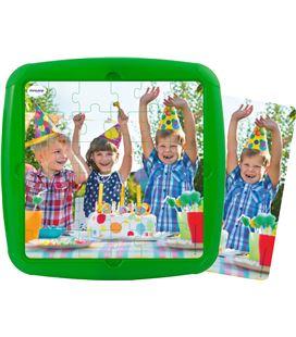 Puzzle plastic con marco cumpleaños 36 piezas 21 x 21 cm miniland - 114296
