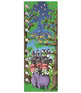 Maxi puzzle plastic de suelo animalitos y números en estuche 40 piezas 82 c - 112747