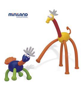Construcciones animatch animales 31 piezas miniland