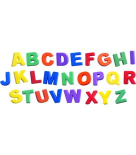 Letras magneticas mayusculas jumbo 44mm 72 piezas estuche miniland - 112771