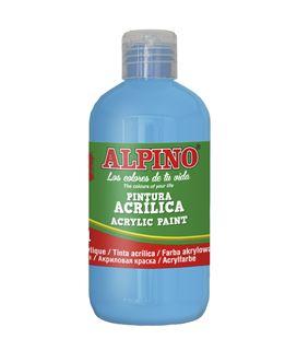 Pintura acrilica botella 250 ml azul cyan alpino dv000030