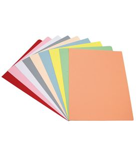 Subcarpeta folio 180grs 10 colores surtidos pasteles c100u grafolioplas