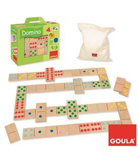 Domino topycolor 28 piezas madera goula