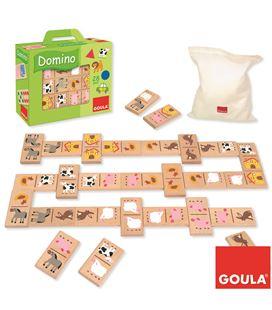 Domino granja 24 piezas madera goula - 112755