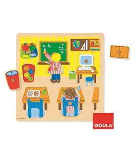 Encaje escuela 7 piezas madera goula 53035