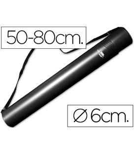 Portaplanos plastico diametro 6cm extensible hasta 80 negro liderpapel 3614 - 114661