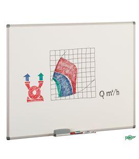 Pizarra blanca estratificada 80x60cm marco aluminio faibo 11-2