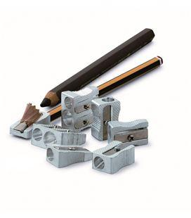 Sacapuntas aluminio 2 agujeros cj de 12 uds faibo