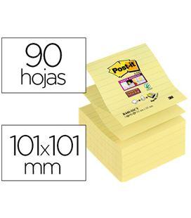 Nota adhesiva posit 101x101mm amarilla rallada 90hojas post-it r440-sscy-eu - 78146