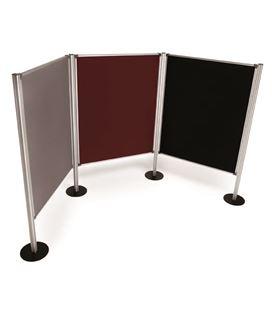 Mampara tapizada gris 120x150 cm planning - 113533