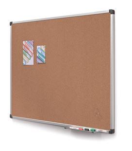 Tablero corcho marco aluminio 90x120 cm planning